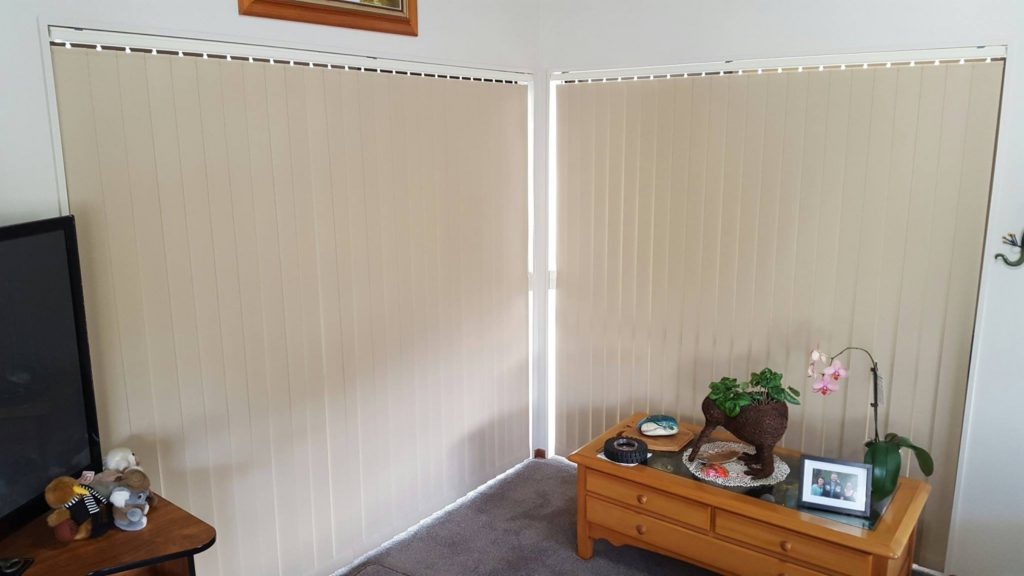 beach house vertical blinds for light and privacy filtering